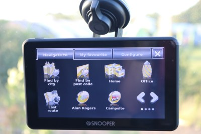 Snooper S6900 motorhome sat nav navigatoin screen