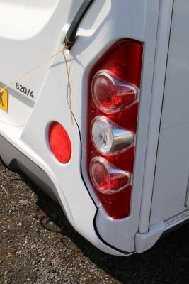 cracked caravan rear light