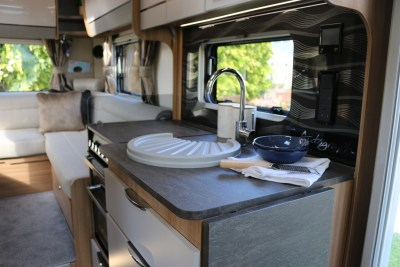 2020 Bailey Autograph 69-2 kitchen