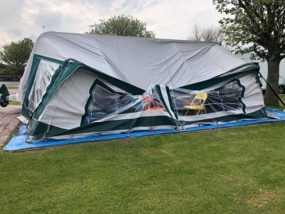 Caravan awning damage