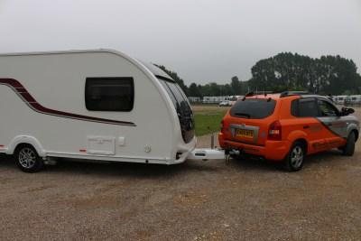 towing a caravan