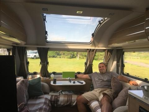 inside an 8ft wide caravan