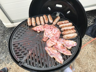 satisfying caravanning sounds_bacon sizzling