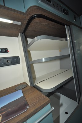 Ecowagon Expo Plus campervan folding shelves