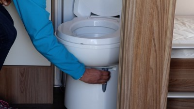 caravan toilet hatch lever