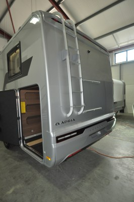 2021 Adria Matrix Supreme 670SL garage