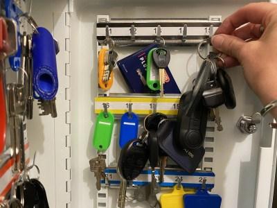 keys in cupboard