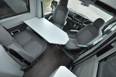 Volkswagen Grand California 680 motorhome lounge/dining