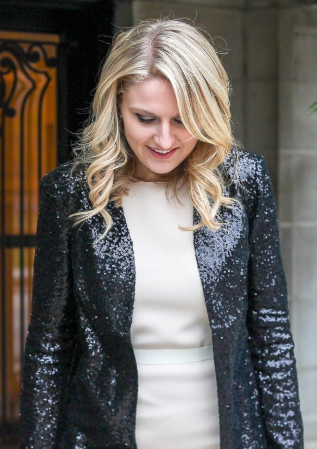 A sequin jacket that you can wear for your work days