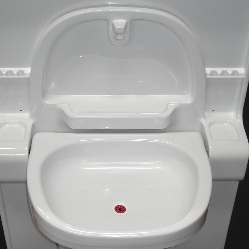VT90 Bathroom Module Fold Up Sink  RV Bathrooms Online