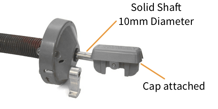 Dometic 8500 Awnings Solid Roller Shaft Attached Cap