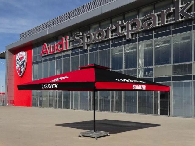 Sonnenschirm Big Ben FC Ingolstadt rot schwarz