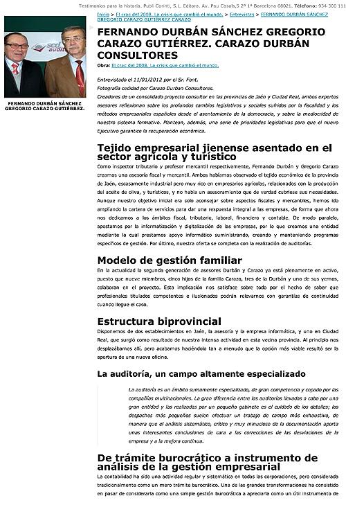 Entrevista Gregorio Carazo