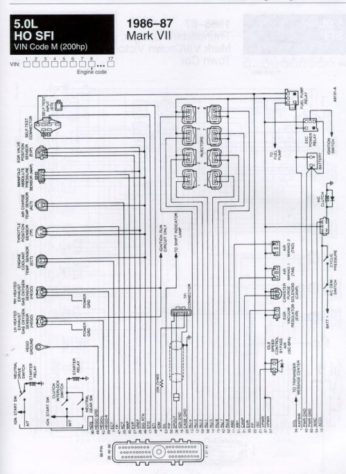 small resolution of  diagram jaguar mark 7 wiring carbed ford message board u2022 view topic 86 87 efi wiring lincoln86 87 efi wiring