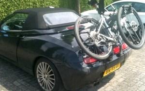 Convertible Car Bike Rack - Shown on Alfa Romeo Spider