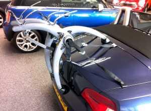 Convertible Car Bike Rack - Shown on BMW Z4