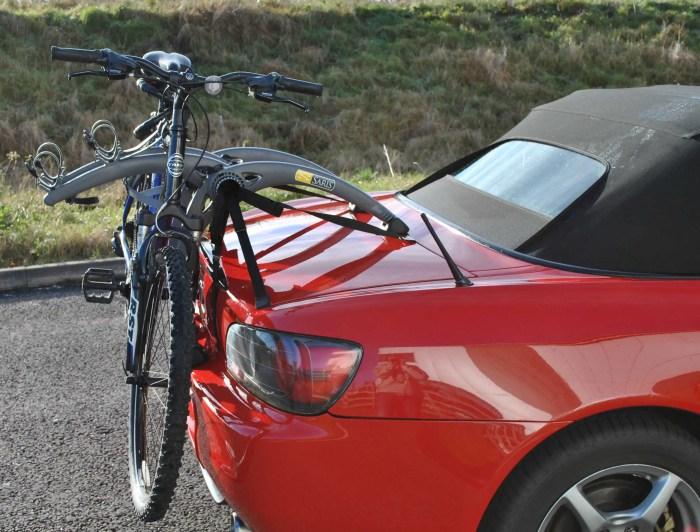 Convertible Car Bike Rack - Shown on Honda S2000