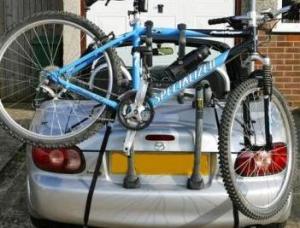 Convertible Car Bike Rack - Shown on Mazda MX5