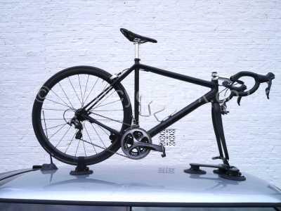 audi r8 Bike Rack Secured to car