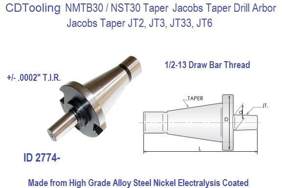 Jacobs Drill Chuck Arbors