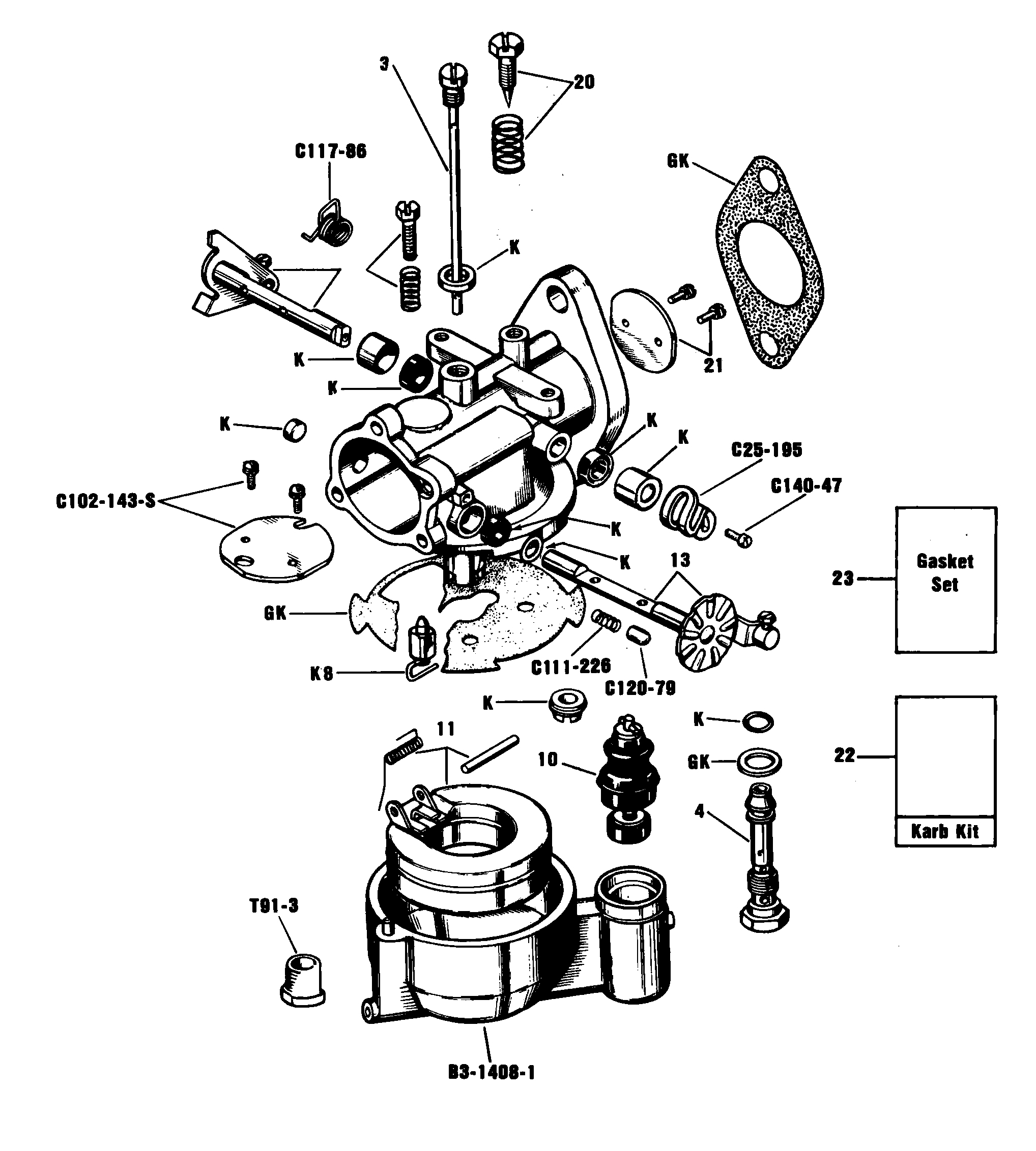 Zenith 13479 Carburetor Kit, FLoat and Manual