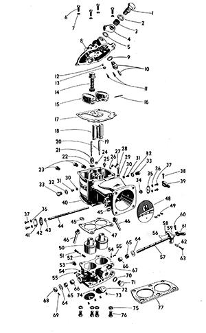 Zenith 11749 Carburetor Kit, FLoat and Manual