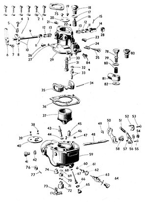 Zenith 8963 Carburetor Kit, FLoat and Manual