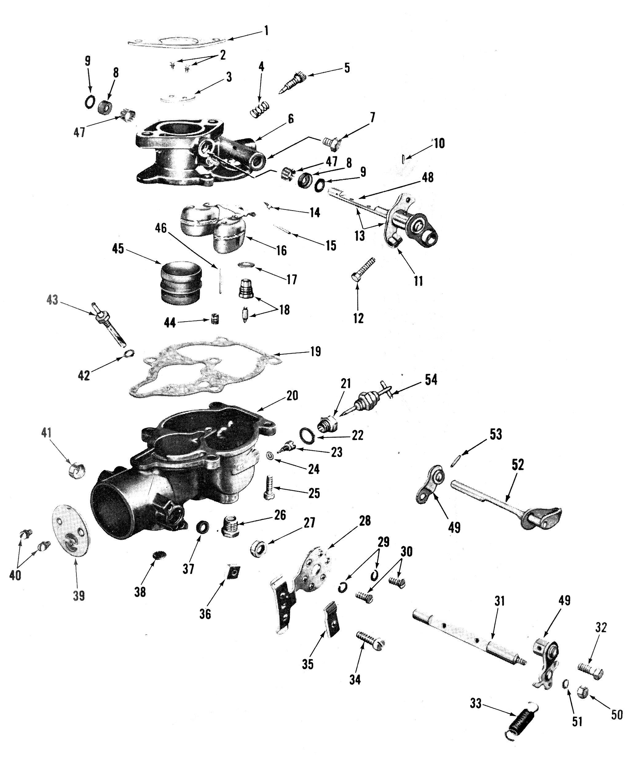 Zenith 13665 Carburetor Kit, FLoat and Manual