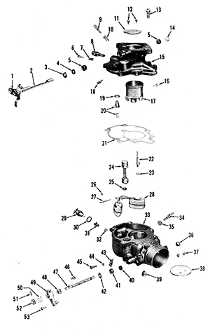 Zenith 13750 Carburetor Kit, FLoat and Manual