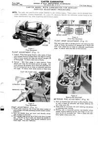 CK416 carburetor kit for Carter WCFB