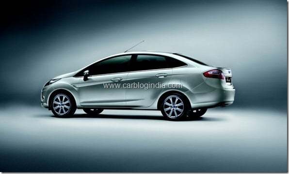 All New Ford Fiesta Side Profile
