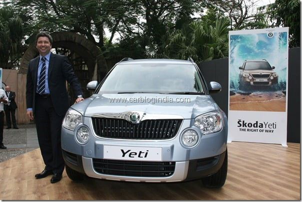 Mr. Thomas Kuehl, Member of Board and Director, Sales & Marketing, SkodaAuto India launches Skoda Yeti