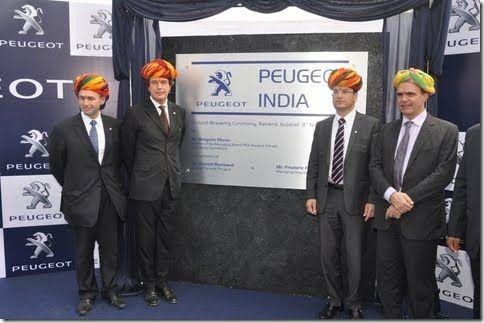 peugeot starts building plant at sanand
