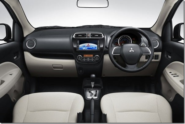 Mitsubishi Mirage small car interior