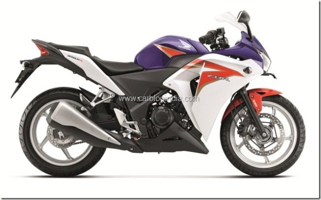 CBR 250R - Pearl Heron Blue tri-colour launched in India