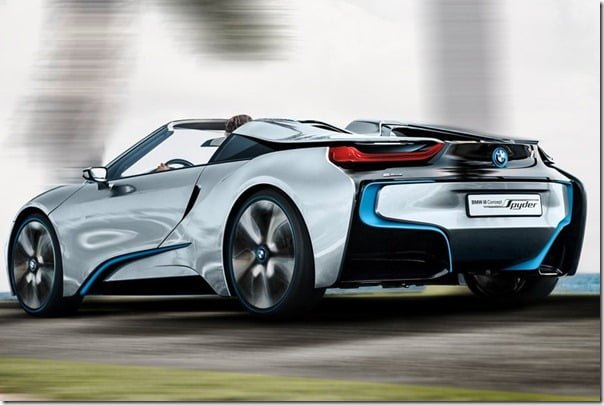 BMW i8 Spyder rear