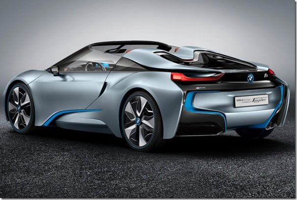 BMW i8 Spyder studio rear