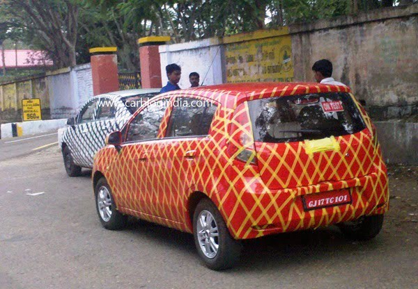 Chevrolet Sail Hatchback And Sedan Spy Pictures (2)