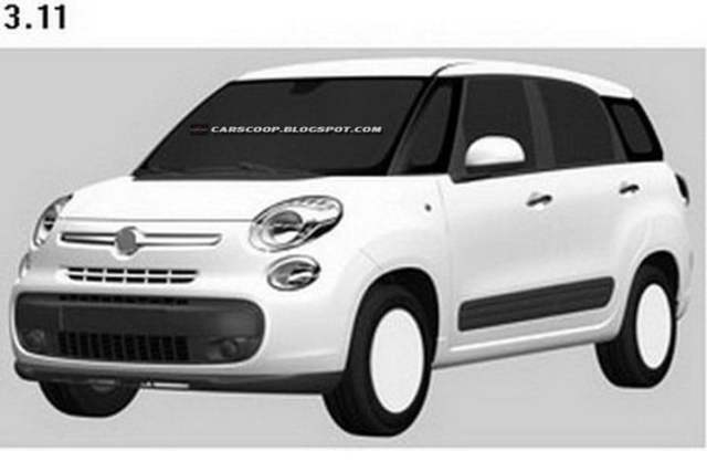 Fiat 500 XL Patent Drawings (7)
