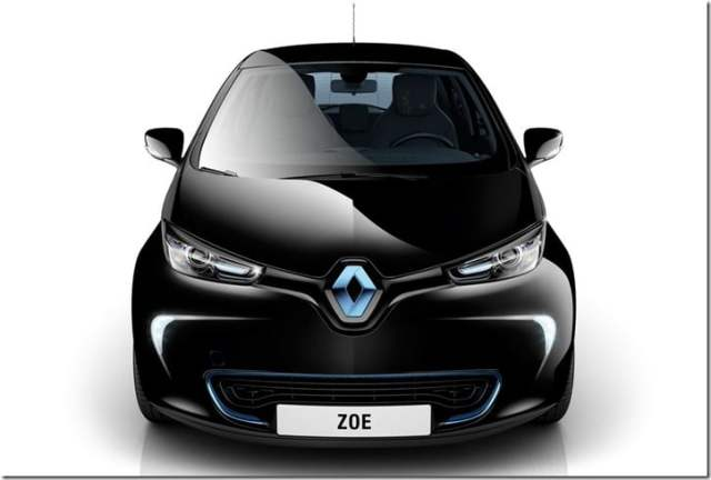 Renault ZOE Small Car front
