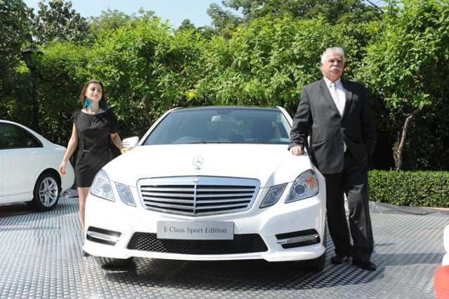 Mr. Peter Honegg, Managing Director and CEO, Mercedes-Benz India at launch of C-Class & E-Class Sport Edition