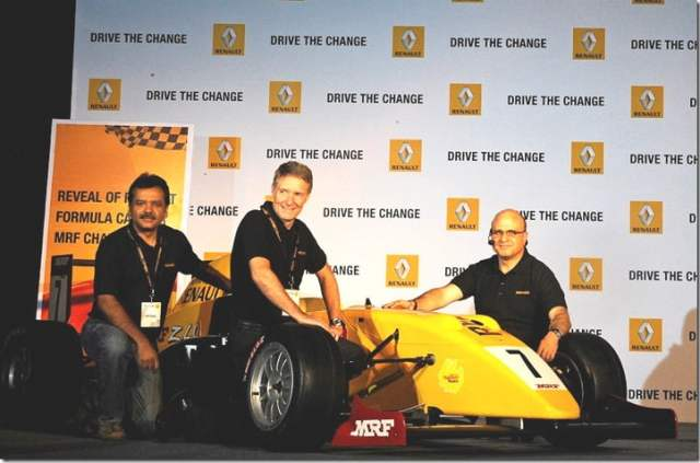 RENAULT - launches Renault team car for MRF Challange