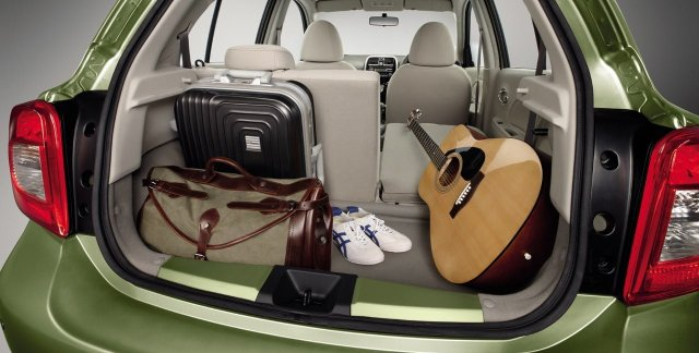 2014 Nissan Micra Boot Space