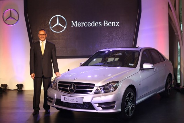 Mr. Eberhard Kern with the Mercedes-Benz C-Class 'Edition C'