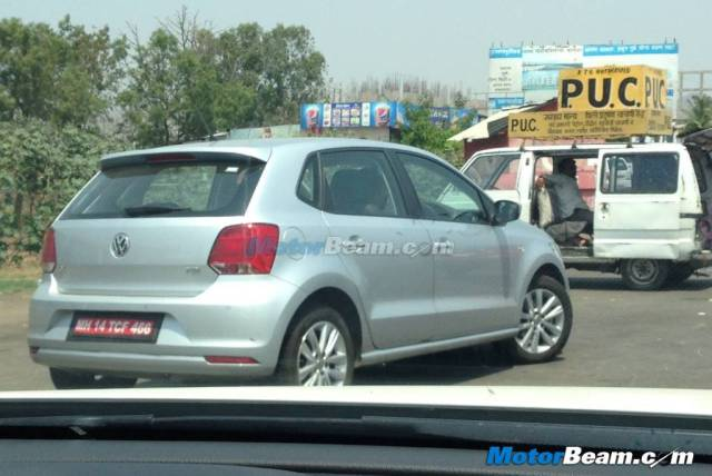2014 Volkswagen Polo GT TDI Spy Shot Rear Right Quarter