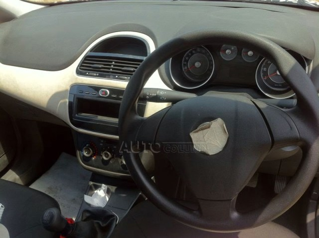 2014 Fiat Punto Facelift Spy Shot Interior Dashboard