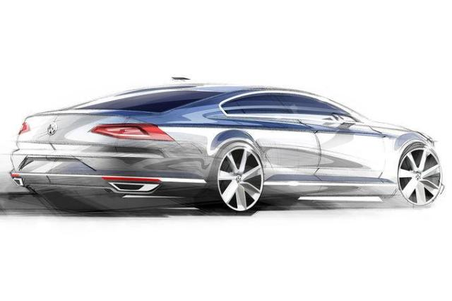 2015-VW-Passat-rear-three-quarters-sketch