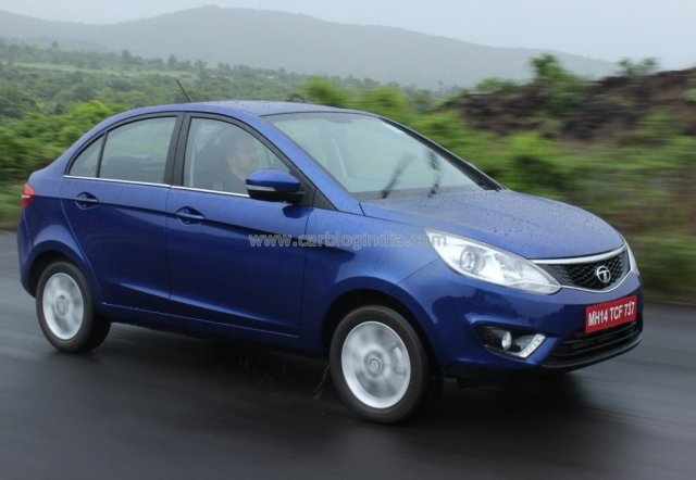 Automatic Sedan Cars in India below 9 Lakhs Price, Specifications, Images 2014 Tata Zest Front Right Quarter Dynamic