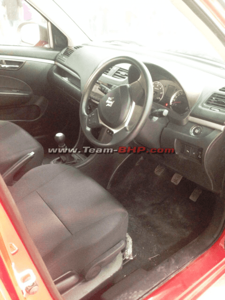 2014 Maruti Swift New Model Interiors Spy Picture