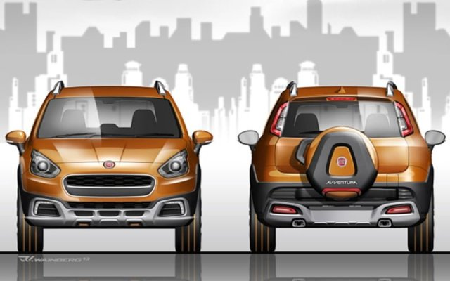 Fiat Avventura Concept Front and Rear